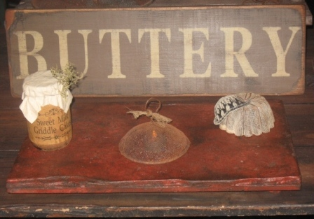 Buttery Board - Large, Red/Black-buttery boards, pastry boards, primitive decor, early prim,