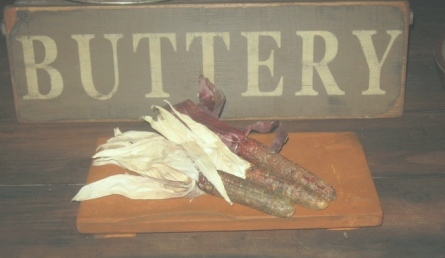 Buttery Board - Medium, Salmon/Brown-buttery boards, primitive decor, early prim,