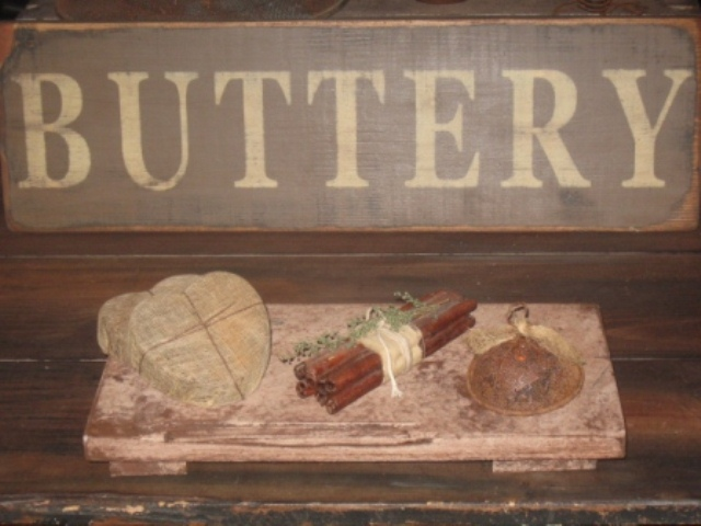 Buttery Board - Medium, Dirty White/Brown-buttery boards, pastry boards, primitive decor, early prim,