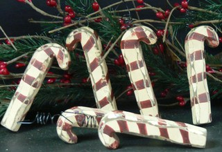 Candy Cane Ornaments, Set of 6