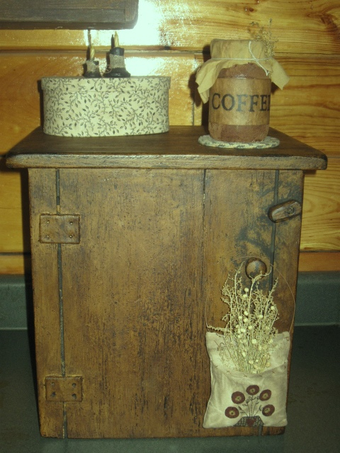 Coffee Maker/Keurig Maker Cover/Cupboard, w/Faux Door - NEW-coffee maker cover, cupboard, wood appliance covers, primitive, country, early prim, early american decor, colonial decor,
