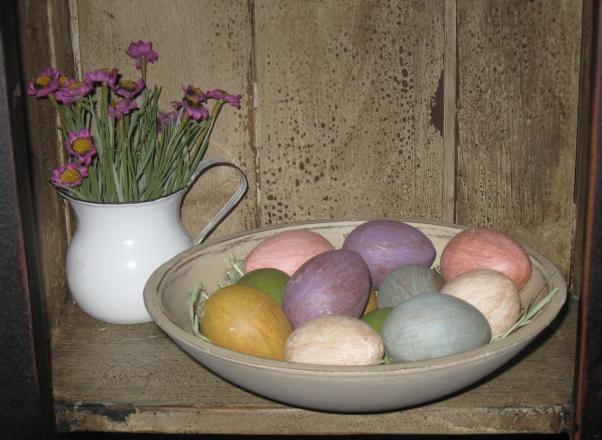 Colored Mache Eggs