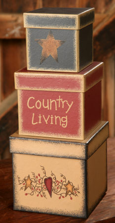 Nesting Boxes - Country Living-stars, hearts, nesting boxes,shaker boxes