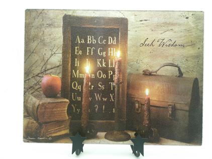 """Cutting Board, Tempered Glass - """"Seek Wisdom"""" - NEW"""