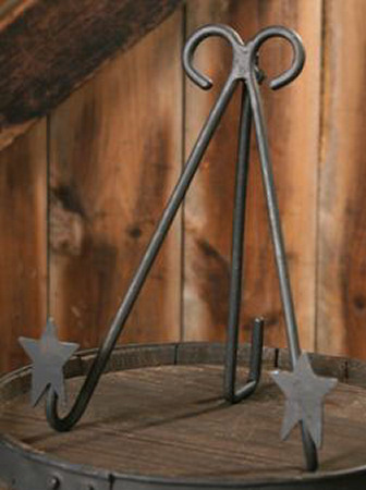 Black Iron Folk Star - Frame/Plate Holder - 5 1/2""