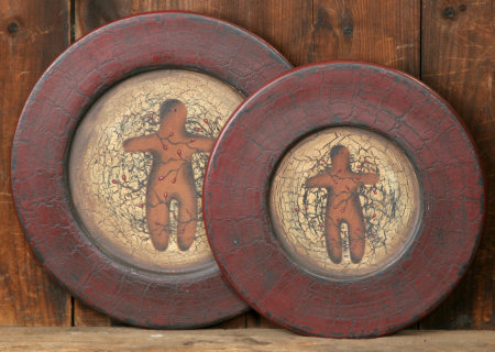 Gingerbread Collection - Plates, Wood-plates, ginger bread, country, primitive,