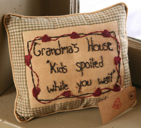 "Stitchery - ""Grandma's House Kids Spoiled"" - Pillow"