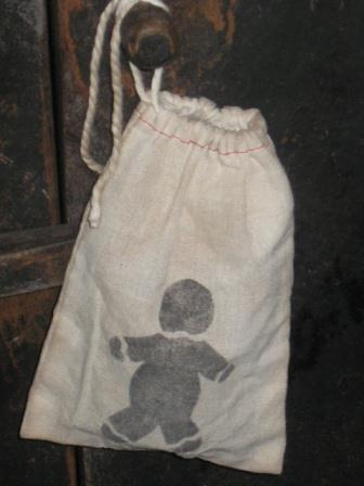 "Grungy Gingerbread Man Tart Bag, 4"" x 6"""