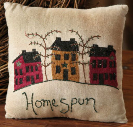 "Stitchery - ""Homespun"" - Prim Home - Pillow"