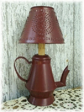 Kettle Lamp With Shade