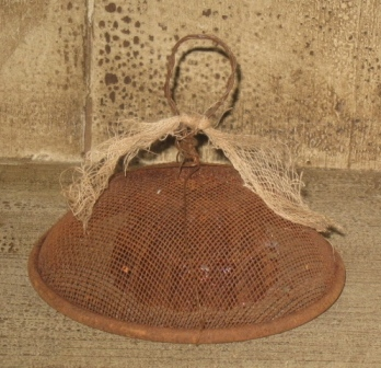 "Large Mini Shoo Fly Screen, 4""  -  Wire Top, Heavily Aged-shoo fly screen covers, mini, small, heavily aged, primitive, primitive decor, early prim, country,"
