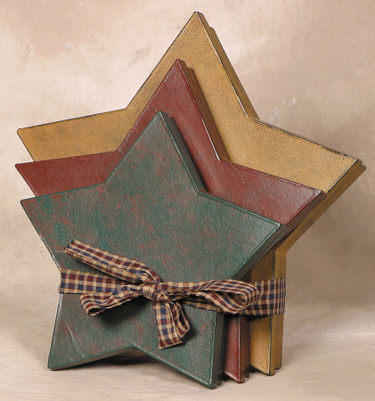 Nesting Boxes -  Primitive Stars (Large)-primitive, stars, nesting boxes, (large),