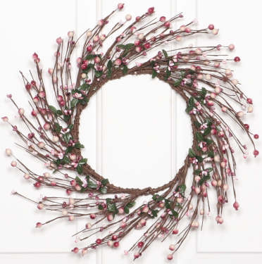 Wreath, Berry - Mixed, Mauve-wreaths, summer, mauve,