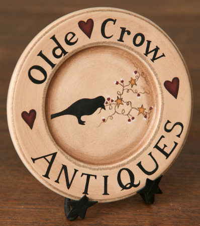 Olde Crow Antiques - Wooden Plate