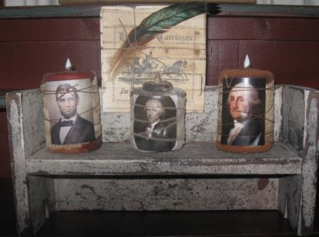 Presidential Flicker Cupboard Candles