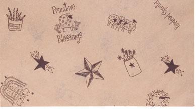 Primitive Blessings Tissue Paper, Blessings