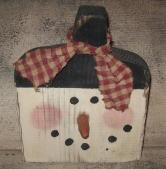 Primitive Snowman, Wood-wood crafts, primitive snowmen, seasonal, wood decor,