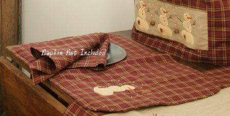Primitive Snowman Collection - Placemats