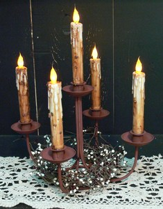Rusty 5 Arm Centerpiece Candle Holder