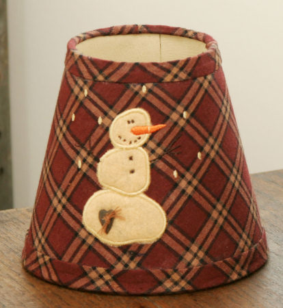 Primitive Snowman Collection - Small Lampshade