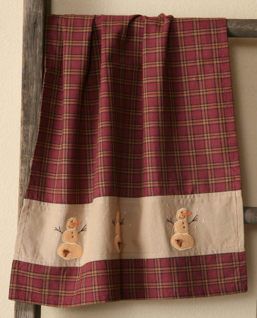 Primitive Snowman Collection - Hand Towel