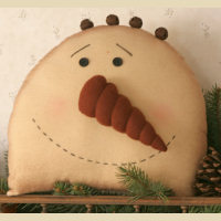 Stitchery - Snowman, Head - Pillow