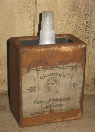 "Large Soap Box - ""Granny's Pure and Natural Lye Soap""-soap boxes, wood, bathroom decor, vintage decor, old soap boxes, early prim,"