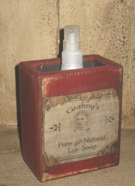 "Large Soap Box - ""Granny's Pure and Natural Lye Soap"""