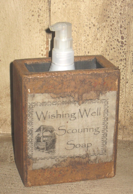 "Large Soap Box - ""Wishing Well Scouring Soap"""