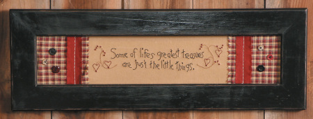 "Stitchery - ""Some of Life's Greatest Treasures are Just the Little Things"" - Frame"