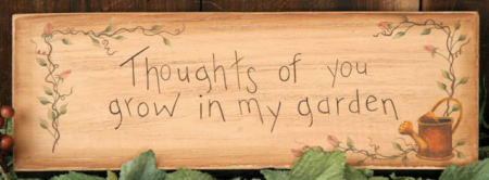 """Message Block - """"Thoughts of You..."""", Wood"""