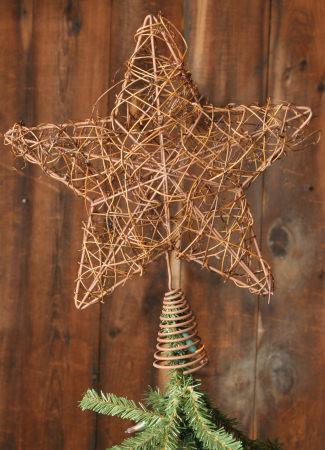 Tree Topper - Star, Twig - NEW
