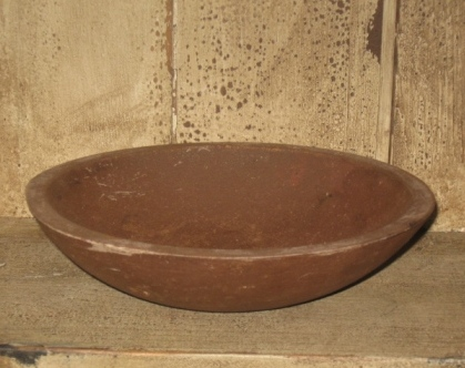 Wood Bowl, 9 Inches - Brown/Mustard