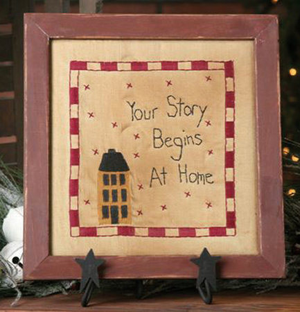 "Stitchery - ""Your Story"" - Prim Home, Frame"
